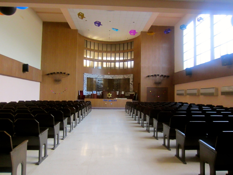 Inside Beth Shalom Synagogue in Havana