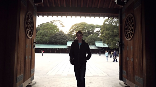 Ari at the Meiji Jingu Shrine