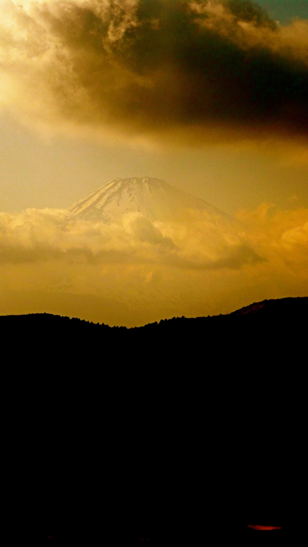 Mt. Fuji in the background