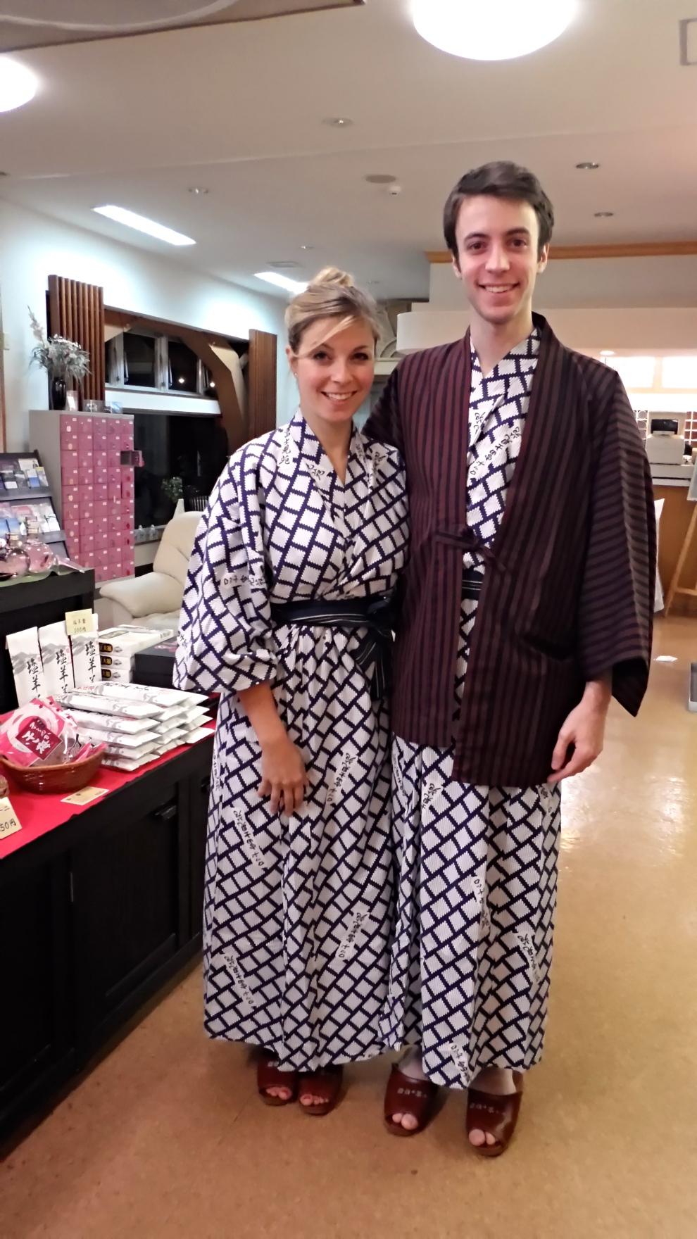 Me & Ari in yukata robes
