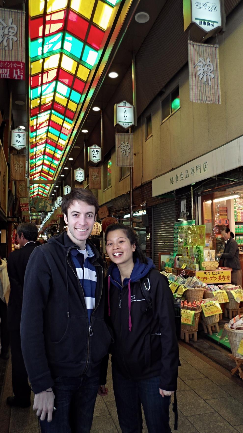 Win & Ari at Nishiki Market