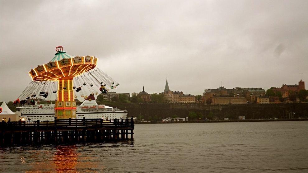Amusement Park on Djursgarden overlooking Gamla Stan