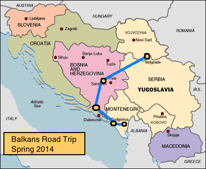 Bosnia A Broad Abroad - Where is sarajevo